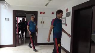 La Selección española de fútbol se concentra en Sevilla