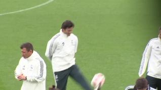 Primer día de Santiago Hernán Solari con el Real Madrid