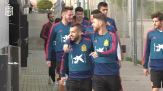 Selección Española entrena para su partido contra Croacia