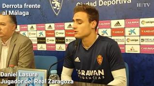 """Lasure: """"Hay que quedarse con las muchas cosas positivas de la derrota contra el Málaga"""""""