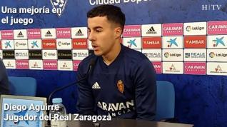 """Aguirre, del Real Zaragoza: """"Tenemos que saber dónde estamos ahora mismo"""""""