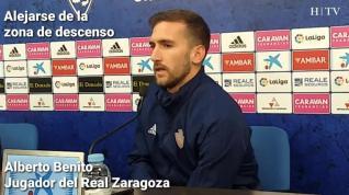 """Benito, del Real Zaragoza: """"Somos un equipo con alma, que no decae"""""""