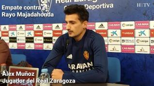 """Álex Muñoz, del Real Zaragoza: """"Mantenemos la misma confianza y el mismo objetivo"""""""