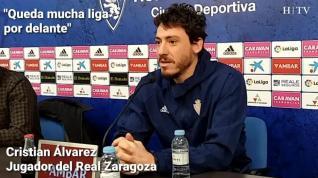 """Cristian Álvarez, del Real Zaragoza: """"Matemáticamente hay tiempo para todo"""""""