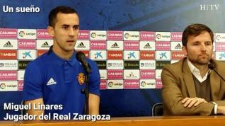 """Linares, del Real Zaragoza: """"Esto es cumplir un sueño"""""""