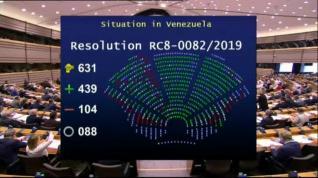 El Parlamento Europeo reconoce a Juan Guaidó como presidente legítimo de Venezuela