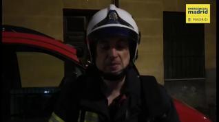 Un incendio en la segunda planta de una corrala en Lavapiés