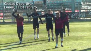 El Real Zaragoza vuelve a entrenar tras la victoria a domicilio en Lugo