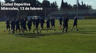 El Real Zaragoza continúa preparando el partido contra el Albacete