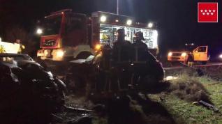Tres fallecidos al colisionar frontolateralmente dos vehículos en Pozuelo del Rey