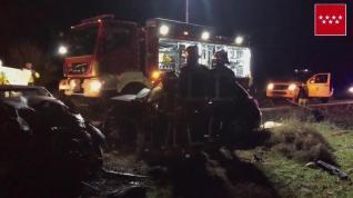 Fallecen tres personas al colisionar dos vehículos en la M-219 en Pozuelo del Rey