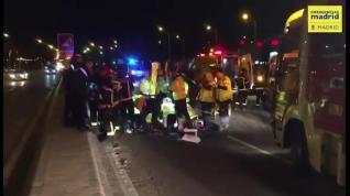 Un accidente en Villaverde deja un herido grave de 38 años