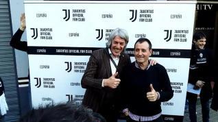 Torricelli visita en Zaragoza la única peña española de la Juventus