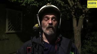 Bomberos Madrid sofocan incendio en una vivienda de Carabanchel