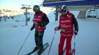 Doble récord del mundo de esquí vertical en las pistas de Astún