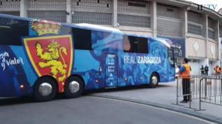 El Real Zaragoza ya está en La Romareda