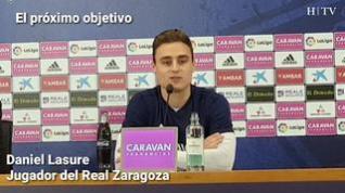 """Lasure, del Real Zaragoza: """"Tenemos que ganar por nosotros y por la afición"""""""
