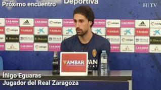 """Eguaras, del Real Zaragoza: """"El próximo partido es casi una final"""""""