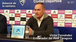 """Víctor Fernández, del Real Zaragoza: """"Sueño con repetir una alineación"""""""