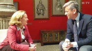 Nadia Calviño, ministra de Economía y Empresa, participa en el Foro Ibercaja