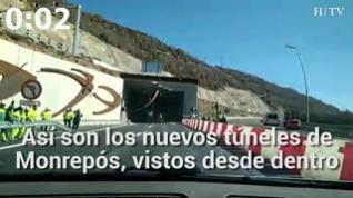 """Primer conductor en atravesar los túneles de Monrepós: """"¡Buah, qué chulo!"""