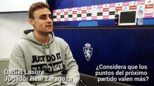 """Lasure, del Real Zaragoza: """"En este momento, cualquier rival es difícil"""""""