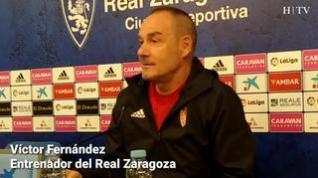 """Víctor Fernández, del Real Zaragoza: """"El partido contra el Nàstic lo vamos  ganar"""""""