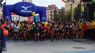 Salida de la maratón de Zaragoza