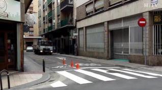 Primeros despistes por el cambio de sentido en la calle de Bolonia