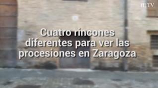 Los mejores puntos para ver la Semana Santa de Zaragoza