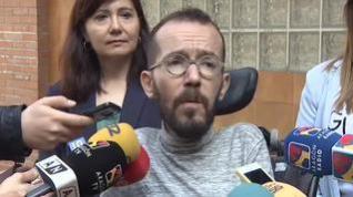 """Echenique: """"La estrategia de Ciudadanos es incendiar el conflicto territorial en España"""""""