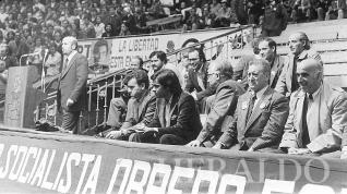 Mitines en Zaragoza durante la campaña electoral de 1977