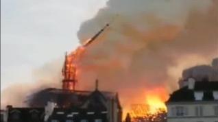 El mundo conmocionado por el fuego Notre Dame