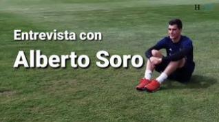 """Alberto Soro, del Real Zaragoza: """"Hace un año no me esperaba estar aquí, para nada""""."""
