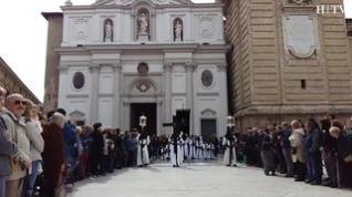 Emoción (sin lluvia) en las procesiones del Jueves Santo en Zaragoza