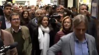 Independentistas increpan a Arrimadas en un acto en Vic (Barcelona)