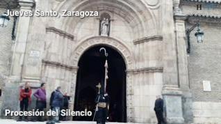 Dos cofradías suspenden en Zaragoza sus procesiones de Jueves Santo por el mal tiempo