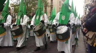 La procesión de las Siete Palabras recorre el centro de Zaragoza en el Viernes Santo