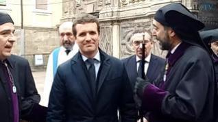 Pablo Casado apoya la Semana Santa zaragozana