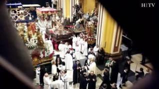 El Santo Entierro emociona y llena el centro de Zaragoza