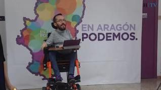 Un día de campaña electoral con Echenique, candidato de Unidas Podemos