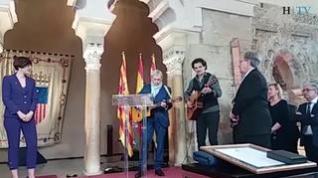 Joaquín Carbonell canta en Las Cortes de Aragón