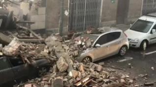 Derrumbe de un edificio en Barbastro