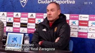 """Víctor Fernández, del Real Zaragoza: """"Es un partido muy importante, pero no decisivo"""""""
