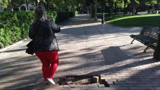 """Los vecinos critican el """"lamentable"""" estado de la plaza de Los Sitios"""