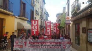 Huesca sale a la calle en el Día del Trabajador