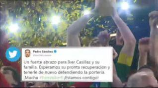 Las redes sociales se inundan con mensajes de apoyo a Iker Casillas