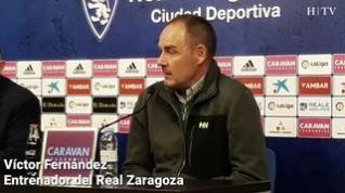 """Víctor Fernández, del Real Zaragoza: """"Debemos ser atrevidos y valientes"""""""