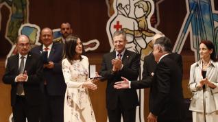 La reina Letizia preside en Zaragoza el acto central del Día Mundial de la Cruz Roja.