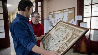 Objetos que componen la exposición del IES Leonardo de Chabacier de Calatayud.